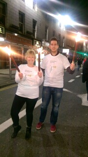 Alison and Kris with their torches