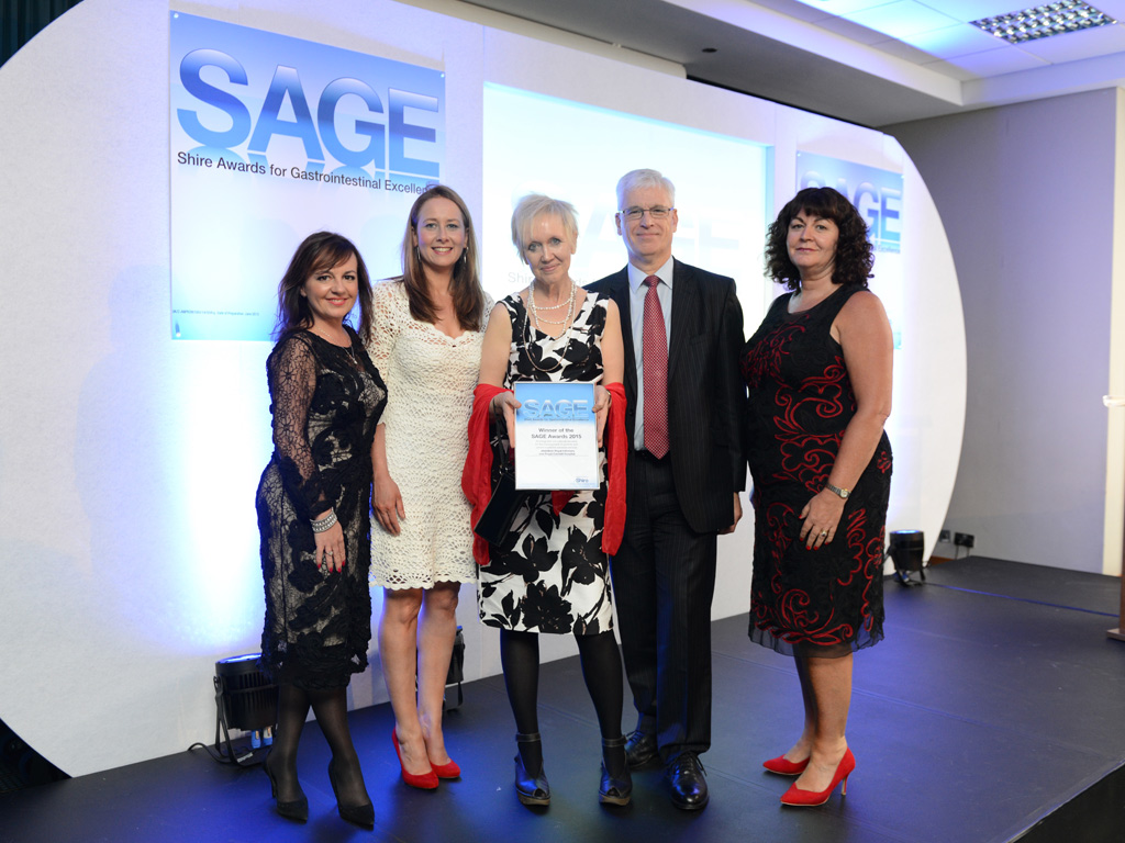 NHS Grampian's effective work for patients with eating disorders has scooped 2nd prize in the UK SAGE Awards