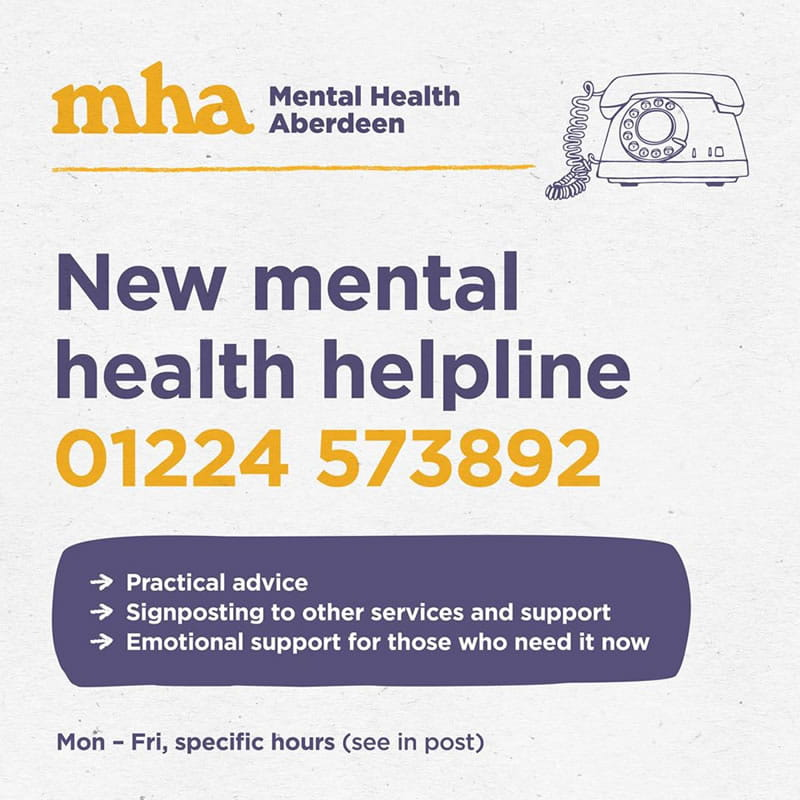 Mental Health Aberdeen phone number
